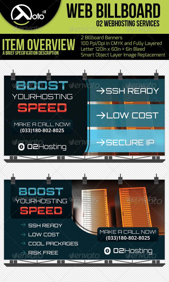 GraphicRiver O2 Web Hosting Service Billboard 6356403