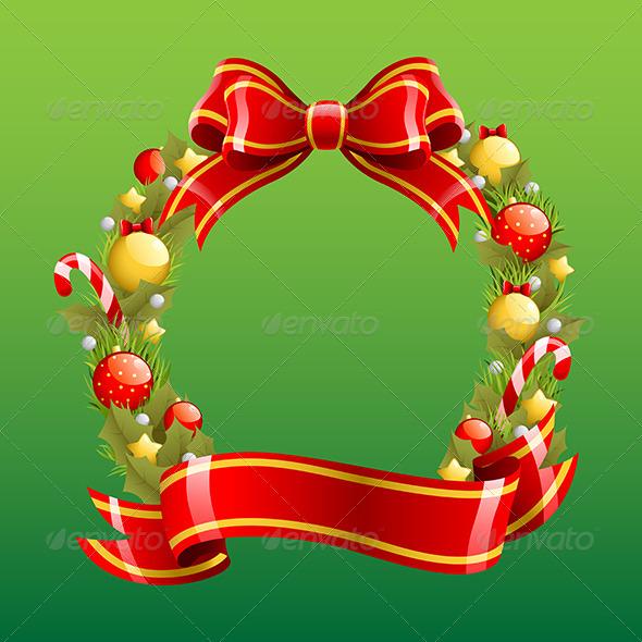 GraphicRiver Christmas Wreath 6356411