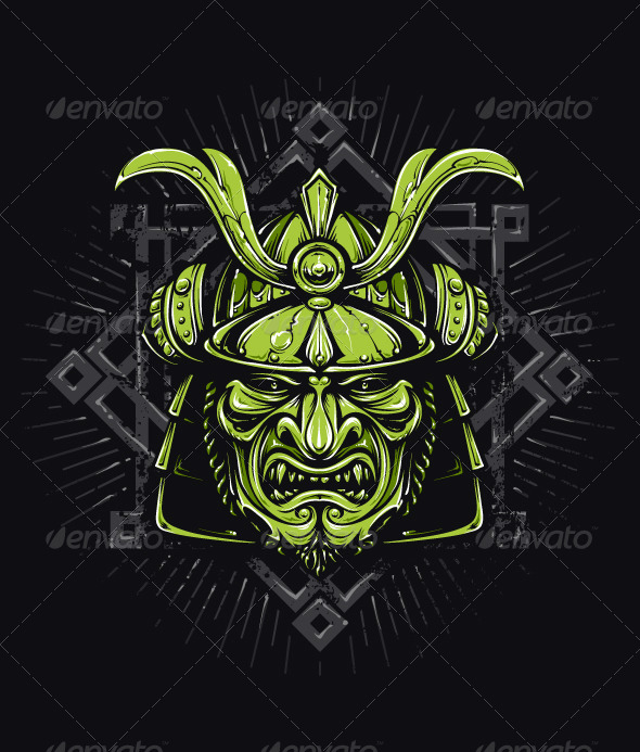 GraphicRiver Vector Samurai Mask 6356479