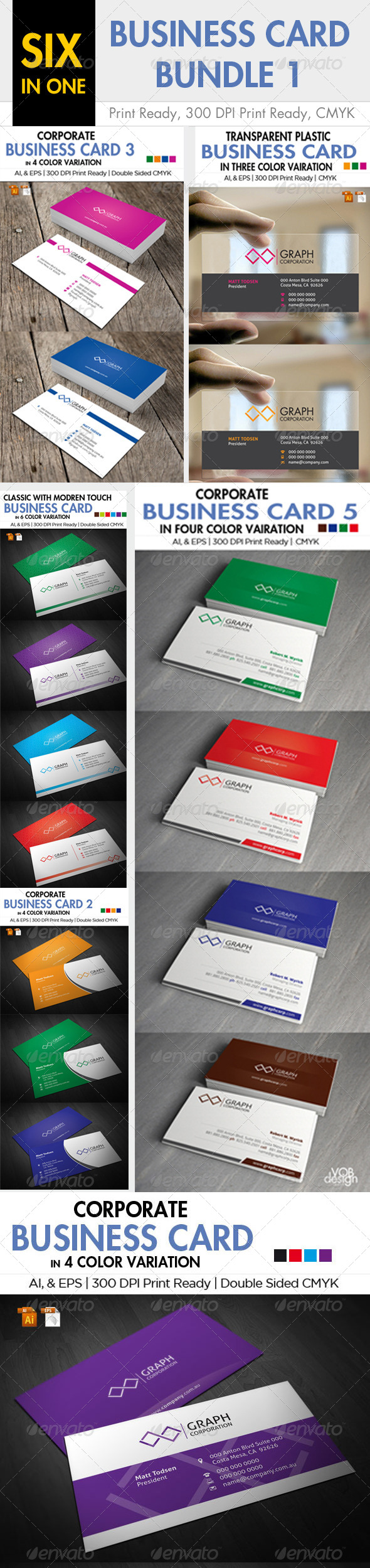 GraphicRiver 6 in one Business Card Bundle 1 6356540