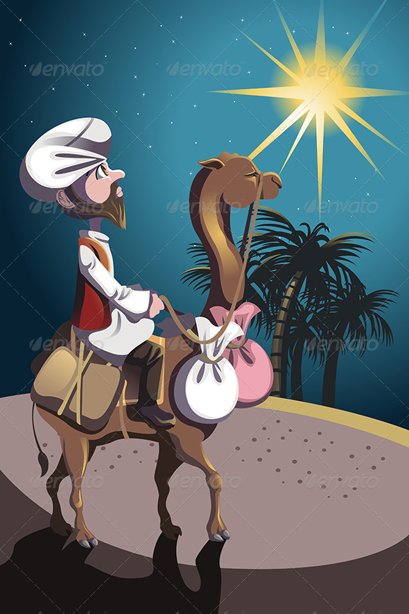 GraphicRiver Riding Camel in Desert 6356940