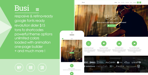 ThemeForest Busi Responsive Multi-Purpose WordPress Theme 5457080