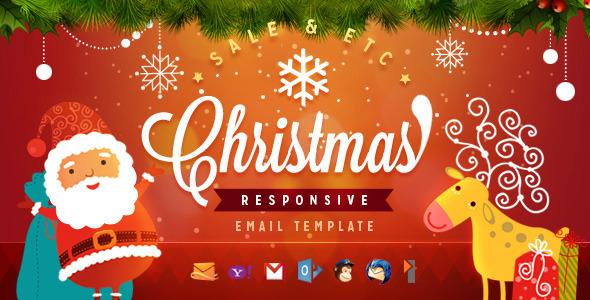 Plantilla de Email Navideño con Diseño Adaptable Versión 2
