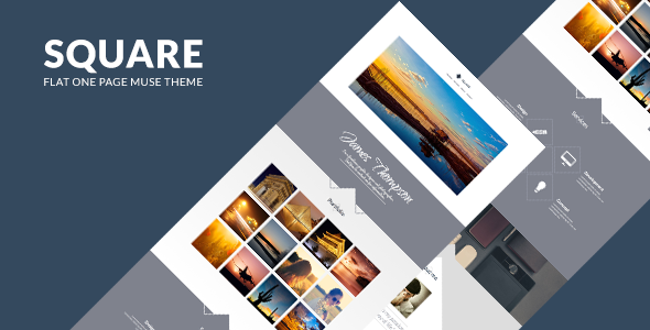 Square - One Page Muse Theme - Creative Muse Templates