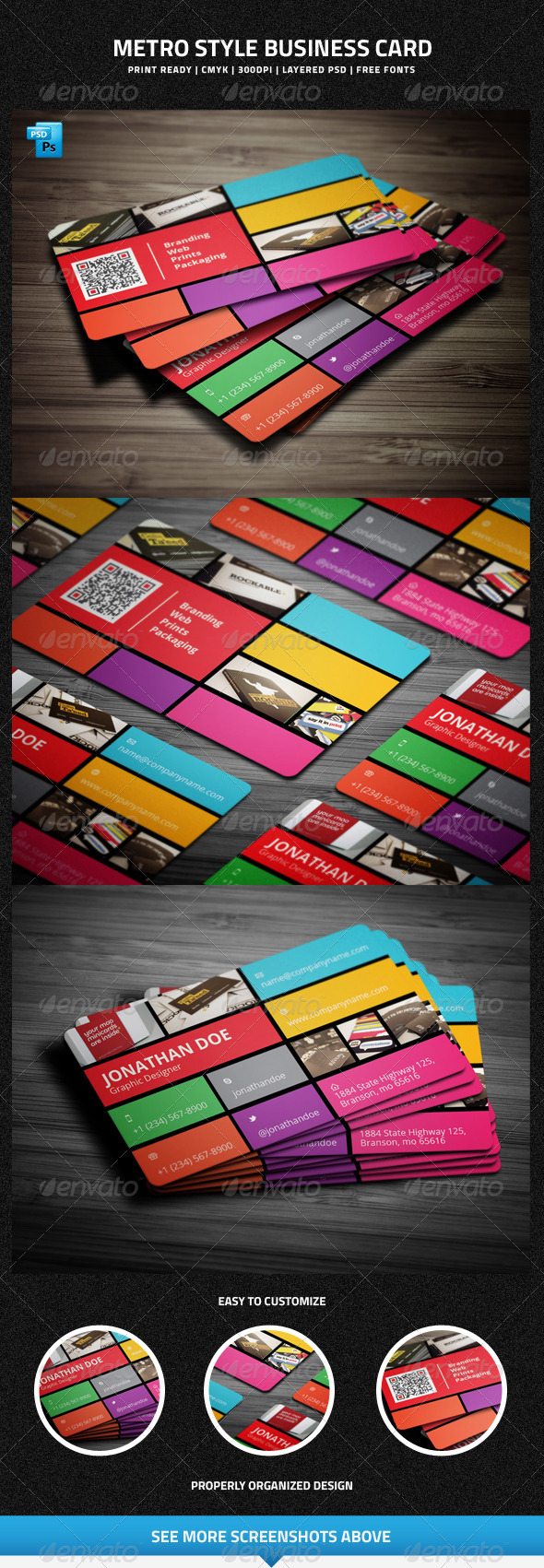 GraphicRiver Metro Style Business Card 6320849