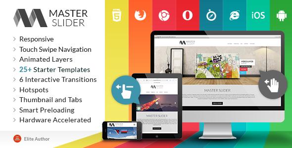 CodeCanyon Master Slider Responsive Touch Swipe Slider 6337671