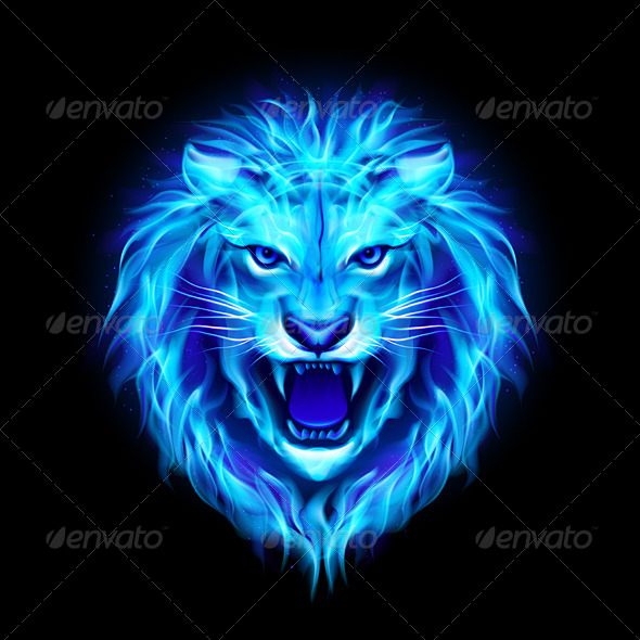 Head Of Fire Lion Graphicriver
