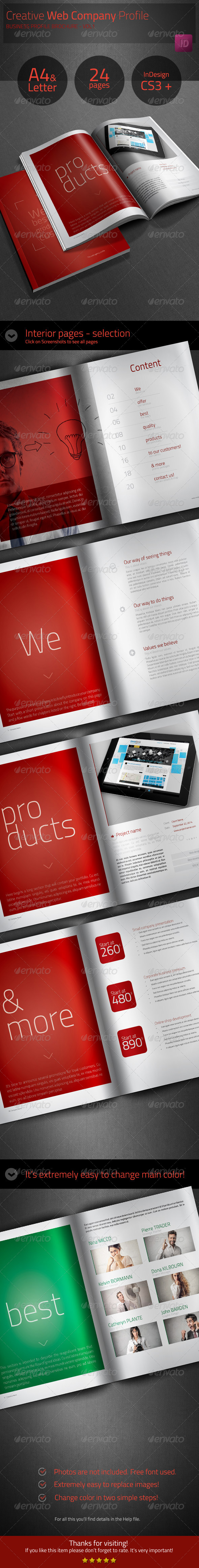 GraphicRiver Creative Web Company Profile Business Brochure 6322913