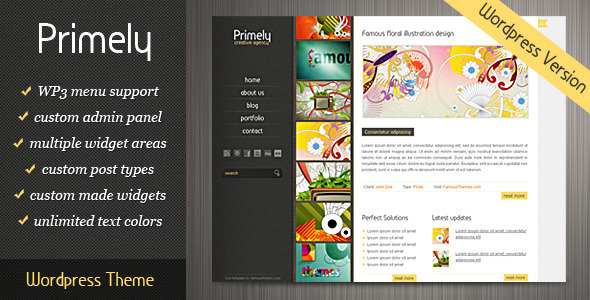 Primely Wordpress Theme - Portfolio Creative