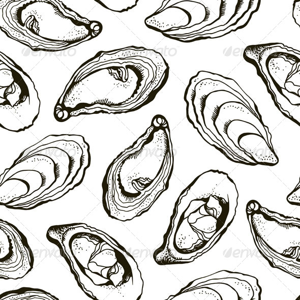 GraphicRiver Oysters Pattern 6357564