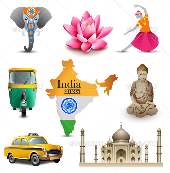GraphicRiver India Travel Icons 6357568