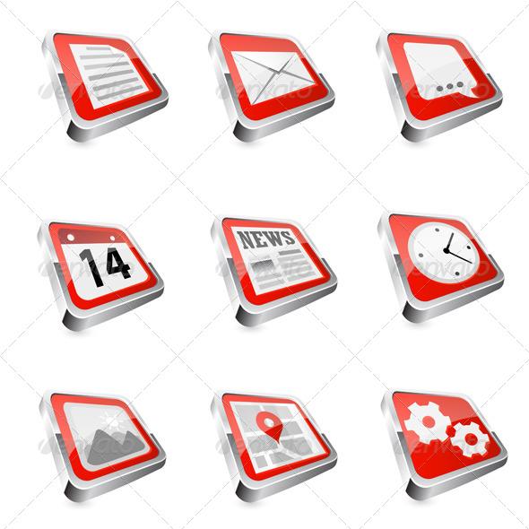 GraphicRiver Web Icon Set 6357638