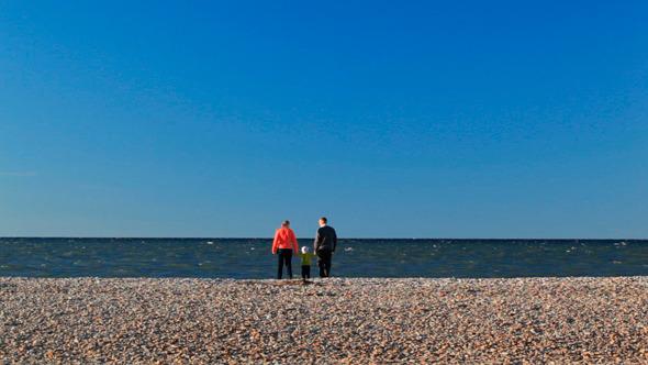 Family Of Three on Pebble Beach