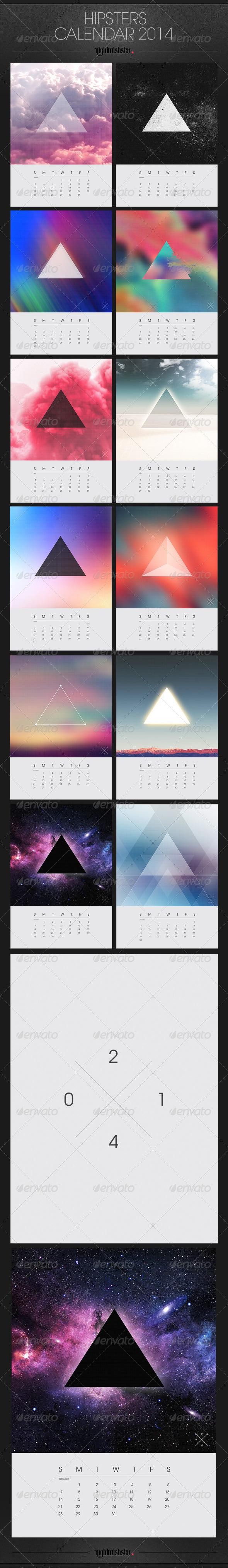 GraphicRiver Hipster Calendar 2014 6318880