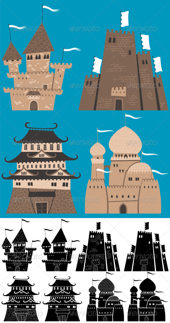 GraphicRiver Cartoon Castles 6357968
