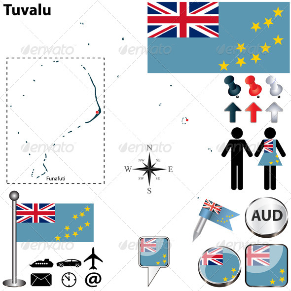 GraphicRiver Map of Tuvalu 6357987