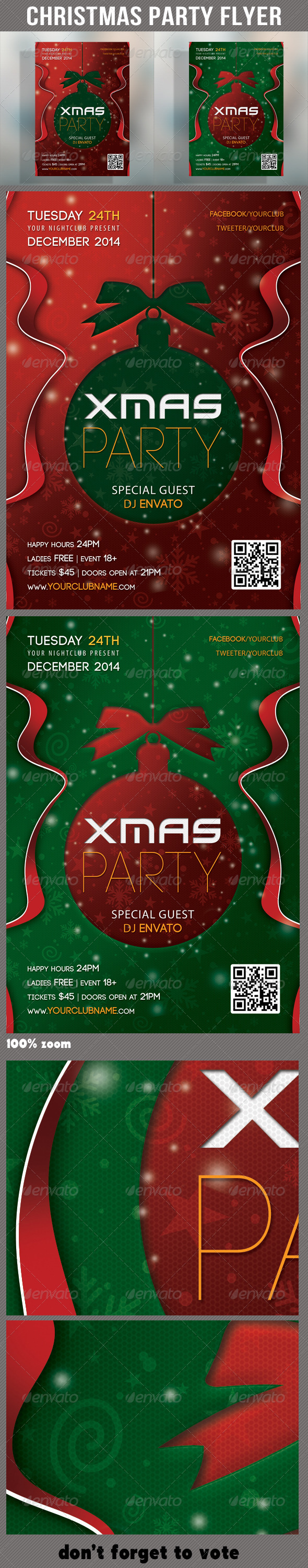GraphicRiver Merry Christmas Party Flyer 02 6357989