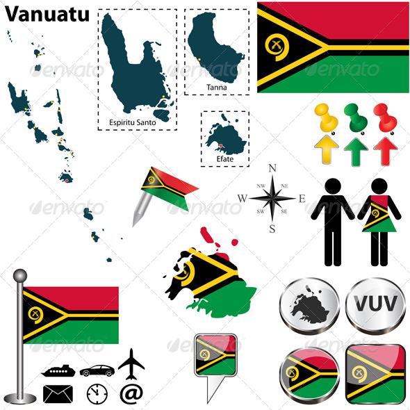 GraphicRiver Map of Vanuatu 6357990