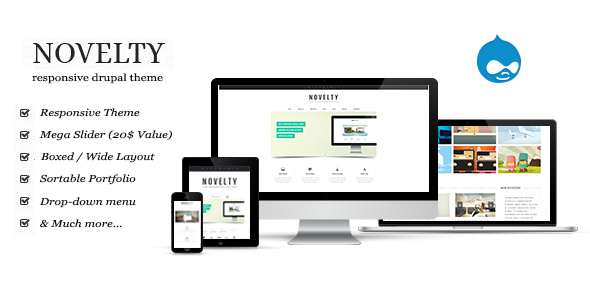 screen.  large preview - Novelty Drupal Theme