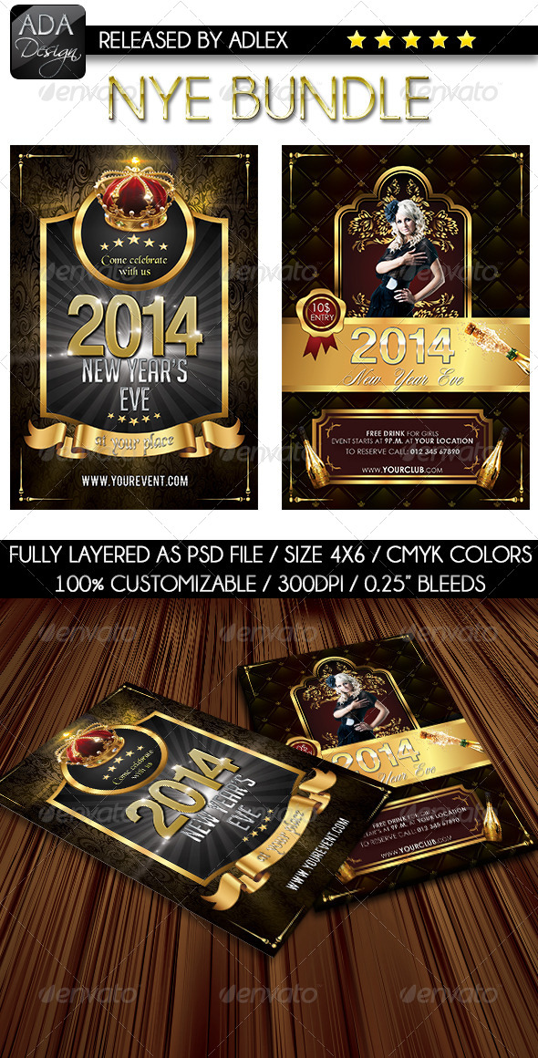 GraphicRiver New Year s Eve Bundle 6345725