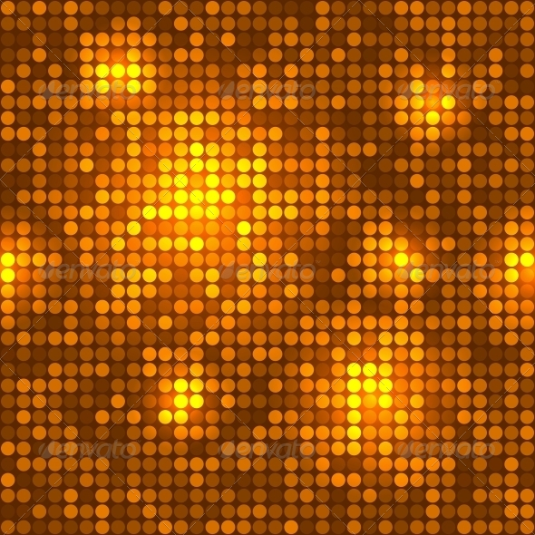 GraphicRiver Disco Golden Background Seamless Pattern 6358566
