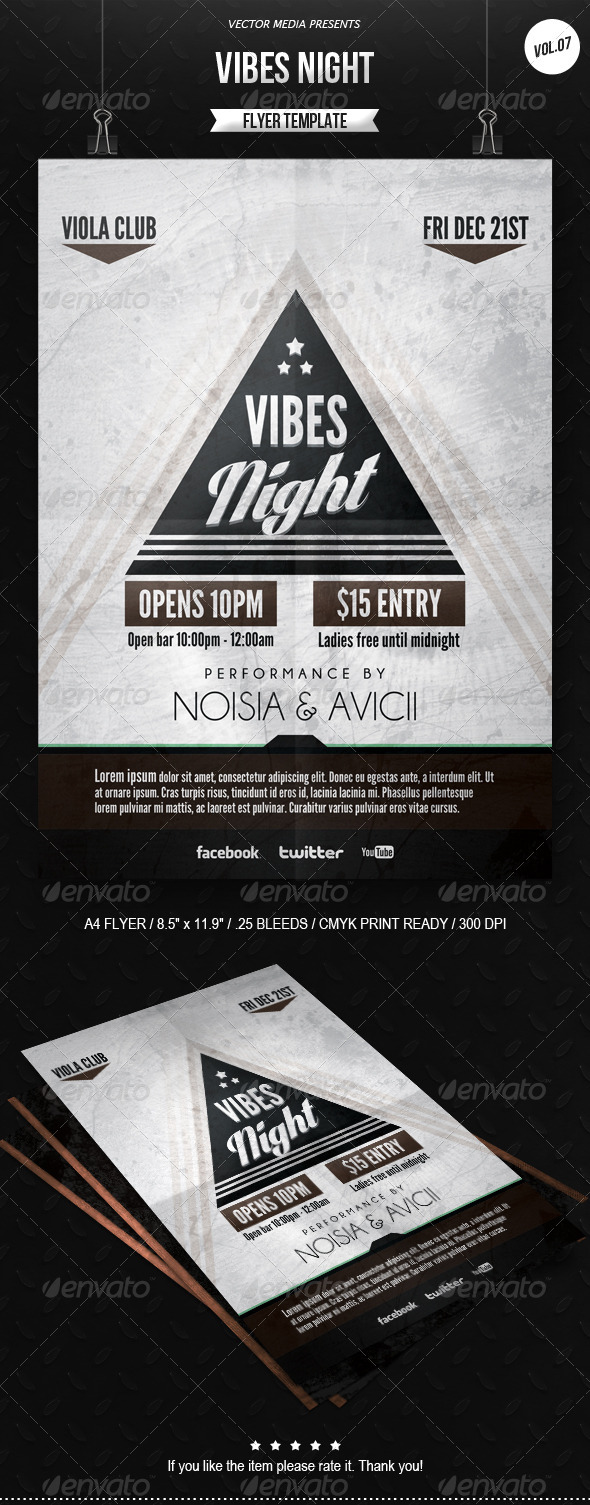 GraphicRiver Vibes Night Flyer [Vol.7] 6358632
