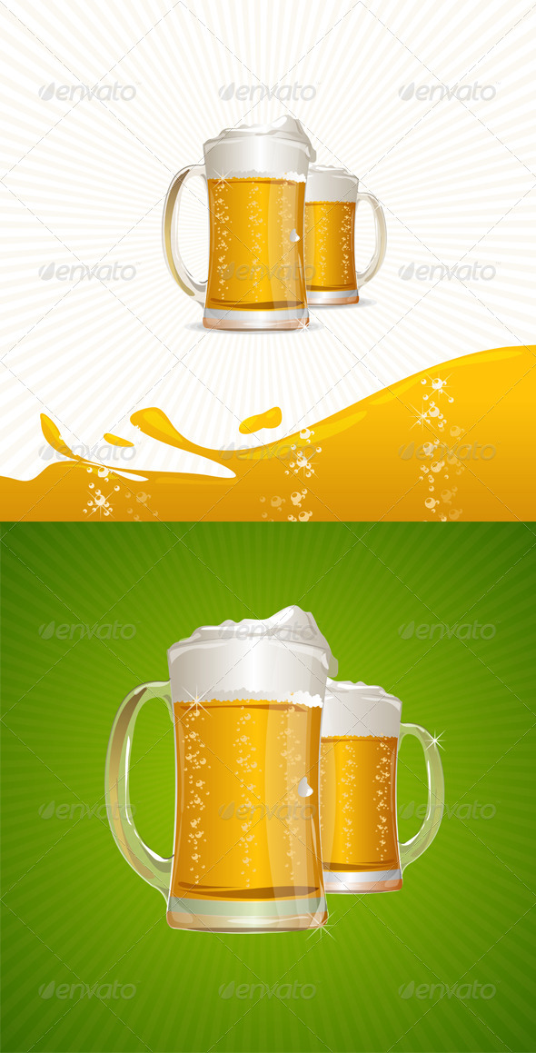 GraphicRiver Mugs of Beer 6358935