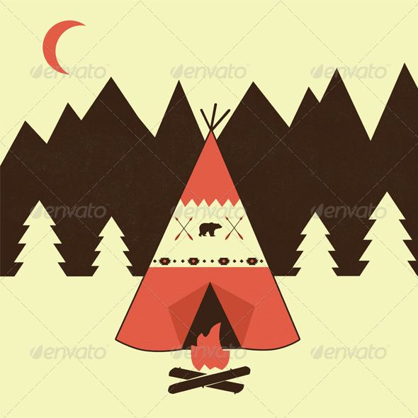 GraphicRiver Teepee Trading Post 6348259