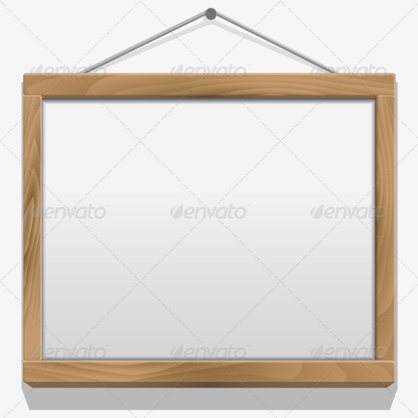 GraphicRiver Wood Frame Isolated on White 6359315