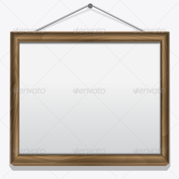 GraphicRiver Wood Frame Isolated on White 6359319