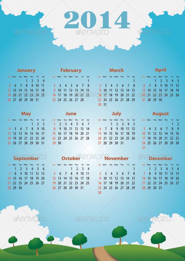 GraphicRiver Calendar 2014 6359342