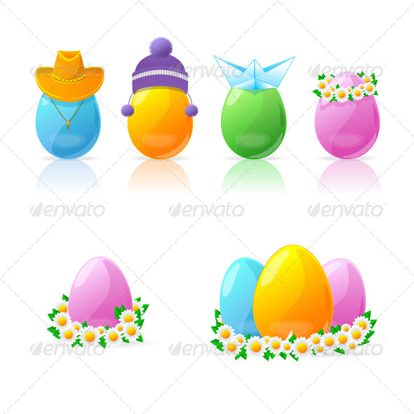 GraphicRiver Set of Colorful Easter Eggs 6359423