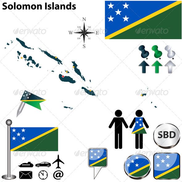GraphicRiver Map of Solomon Islands 6359516