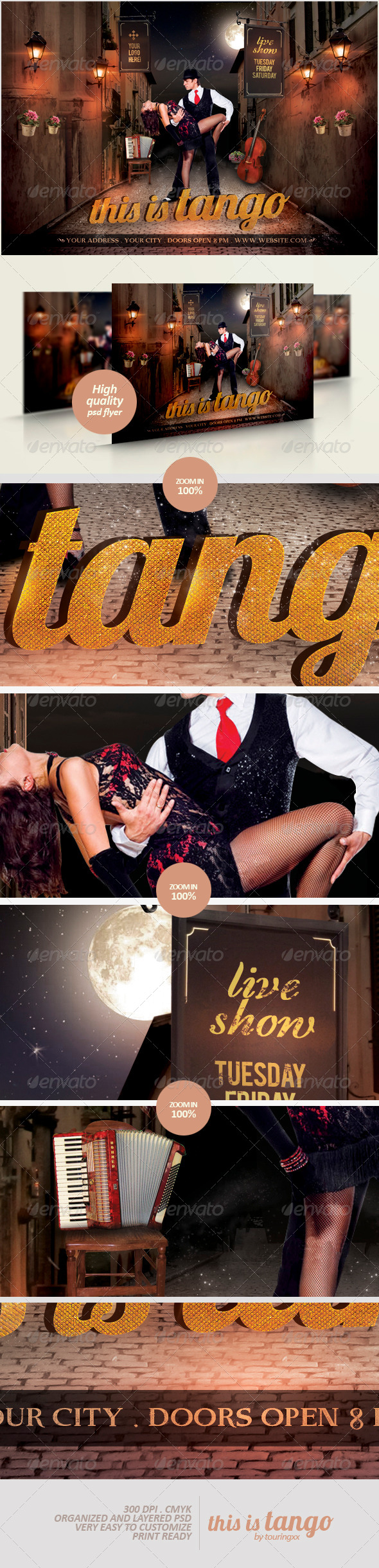 This Is Tango Flyer Template - Clubs & Parties Events