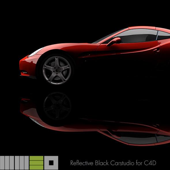 3DOcean MW3D Black Car Studio Rendersetup C4D R15 AR 6359615