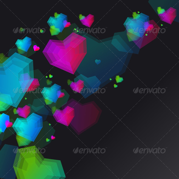 GraphicRiver Heart for Valentines Day Background 6359678