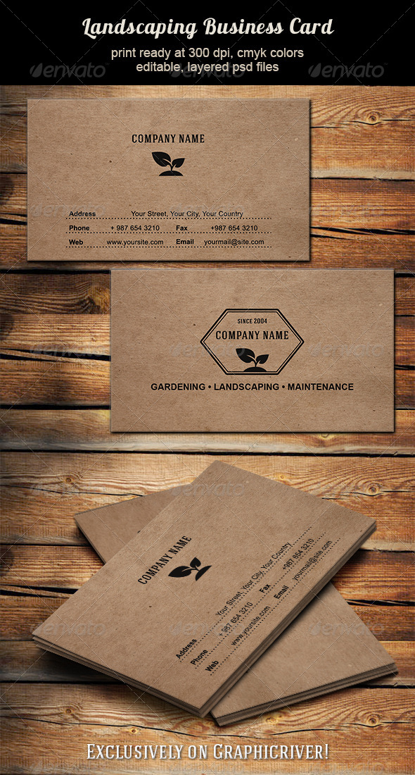 GraphicRiver Landscaping Business Card 6359727