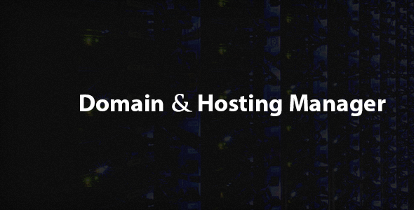 CodeCanyon Domain and Hosting Manager 6359764