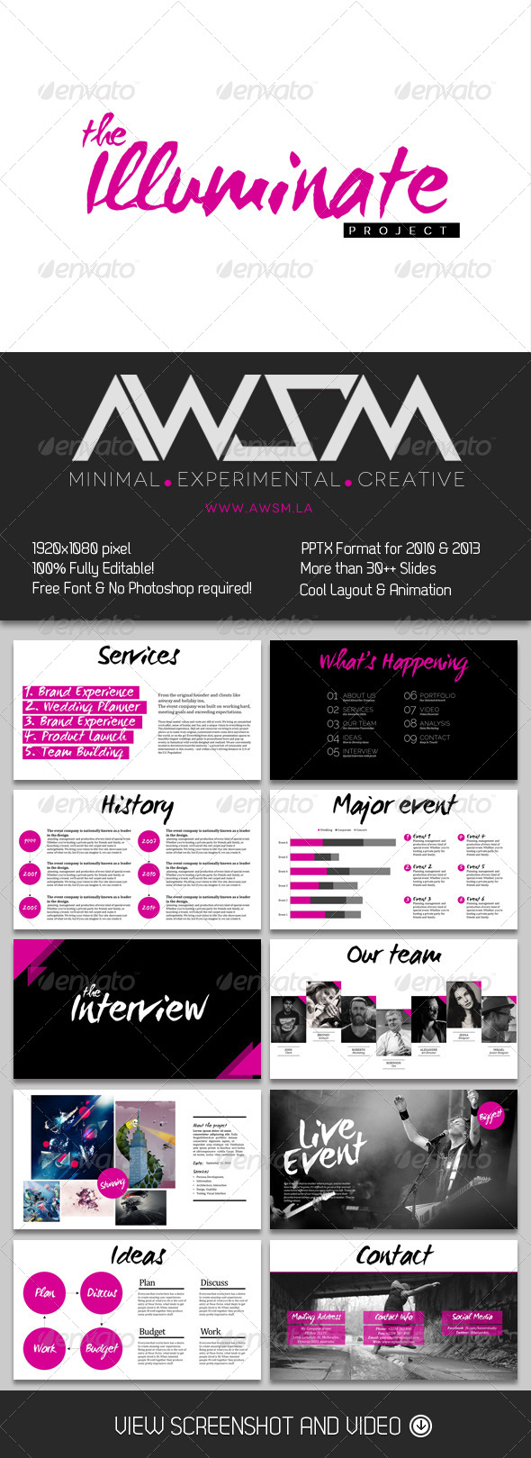 GraphicRiver The Illuminate PowerPoint 6359823