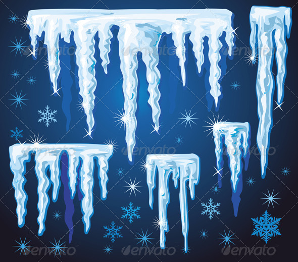 GraphicRiver Set of Vector Icicles 6359751