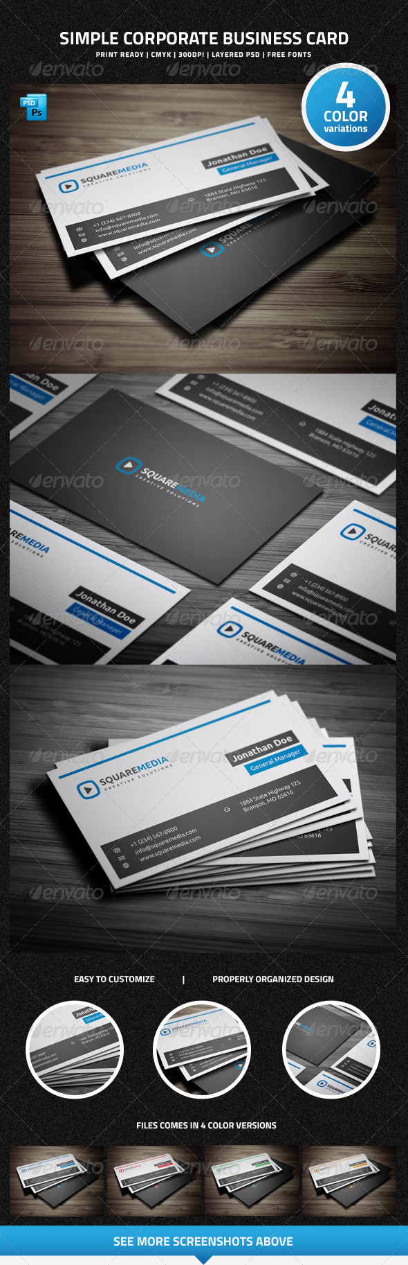 GraphicRiver Simple Corporate Business Card 6359870