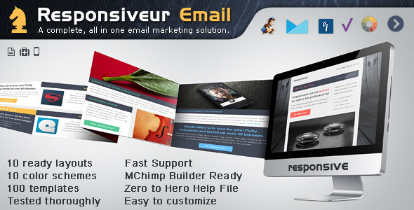 Responsiveur Responsive Email Newsletter Templates - Newsletters Email Templates