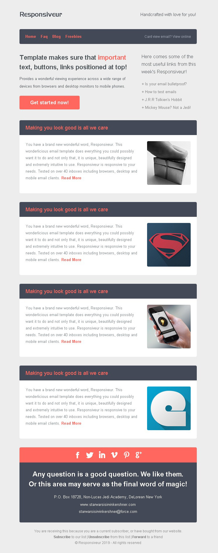 Responsiveur responsive email newsletter templates by for How to make a responsive email template