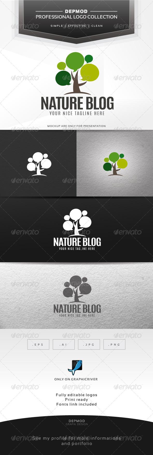 GraphicRiver Nature Blog Logo 6359907