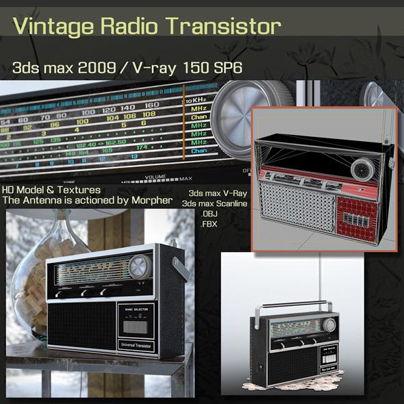 3DOcean Vintage Radio Transistor 6360152