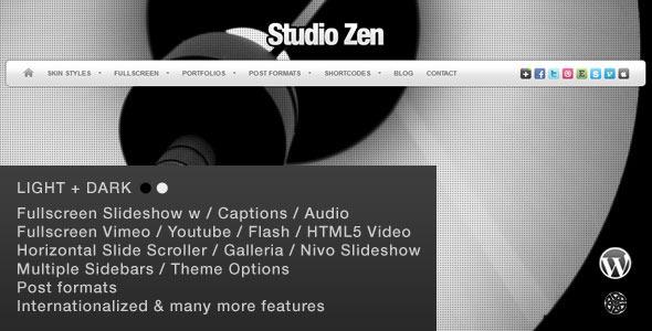 ThemeForest Studio Zen Fullscreen Portfolio WordPress Theme 641705