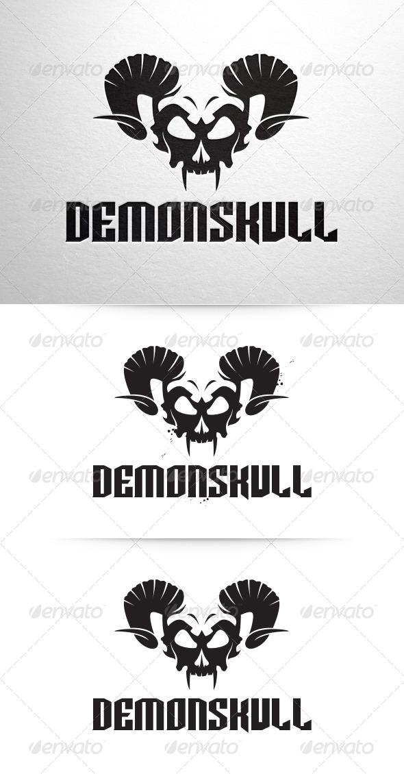 GraphicRiver Demon Skull Logo 6360283