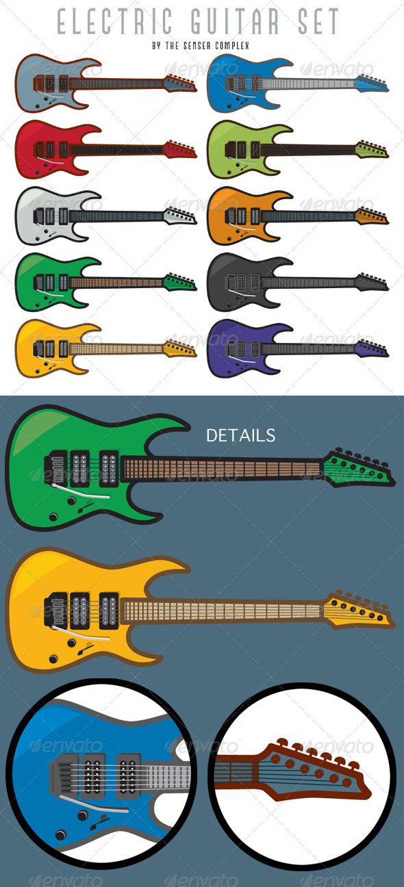 GraphicRiver Electric Guitar Set 6360326