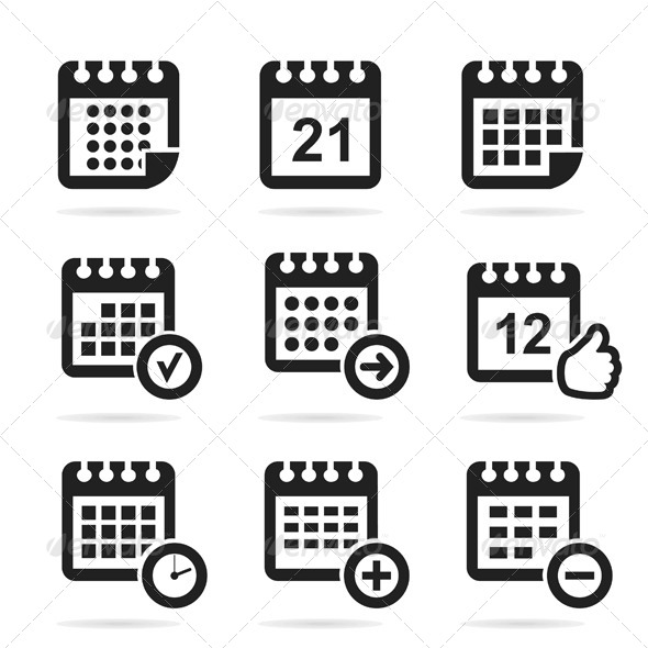 GraphicRiver Calendar Icons 6360354