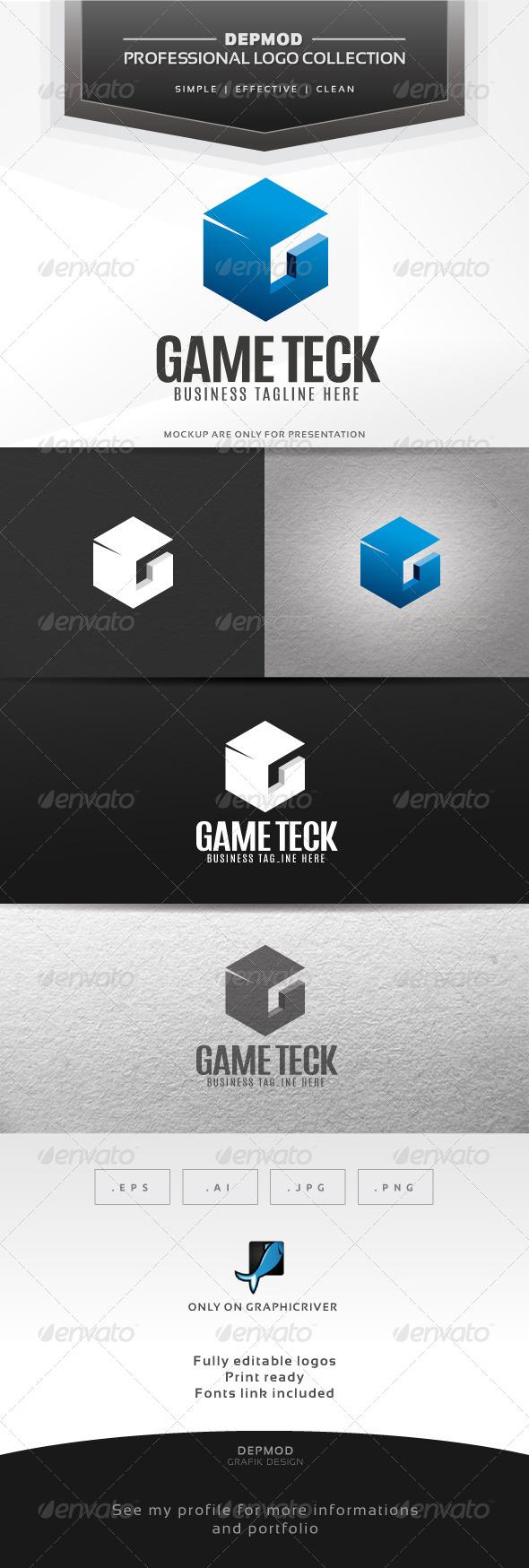 GraphicRiver Game Teck Logo 6360402